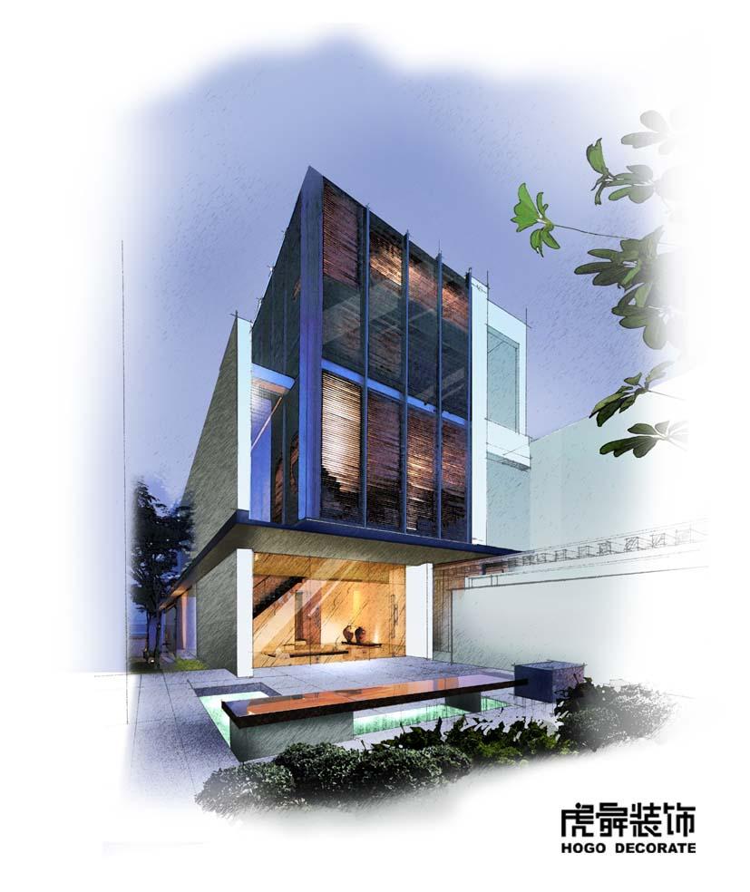 室内手绘效果图欣赏-室内设计-环艺设计-第一视觉