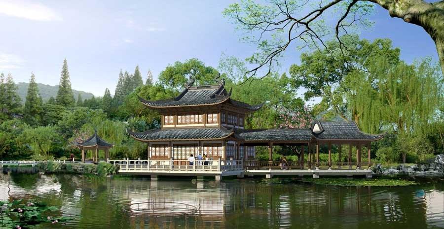 中国古典园林效果图欣赏