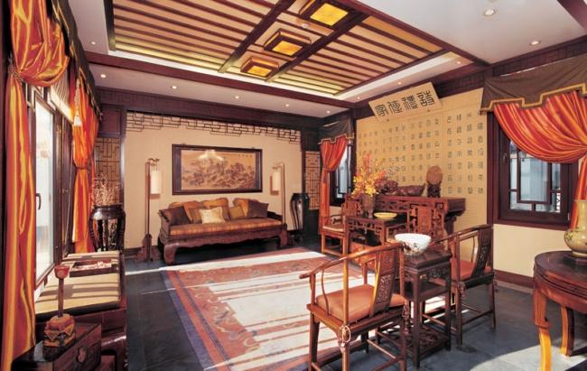 观唐:中式奢华室内设计-室内设计-环艺设计-第一视觉